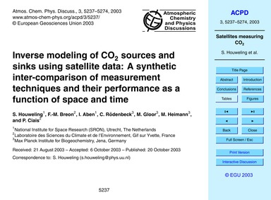 Inverse Modeling of Co2 Sources and Sink... by Houweling, S.