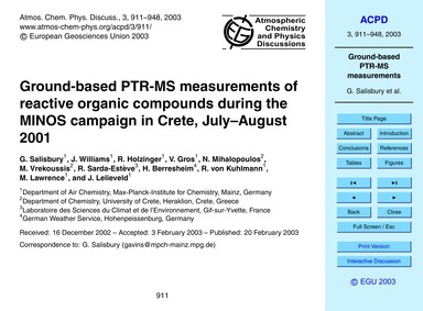 Ground-based Ptr-ms Measurements of Reac... by Salisbury, G.
