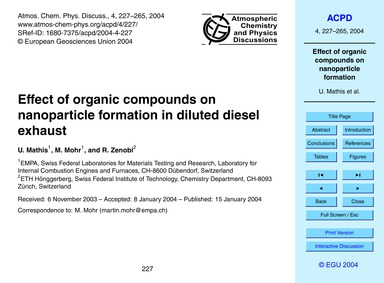 Effect of Organic Compounds on Nanoparti... by Mathis, U.