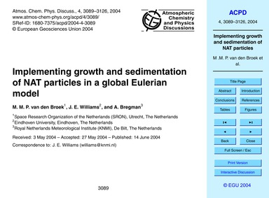 Implementing Growth and Sedimentation of... by Van Den Broek, M. M. P.