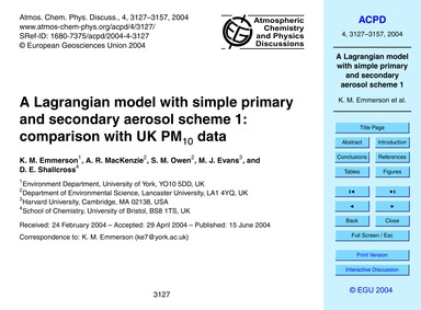 A Lagrangian Model with Simple Primary a... by Emmerson, K. M.