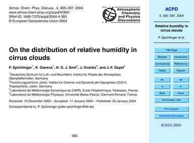 On the Distribution of Relative Humidity... by Spichtinger, P.