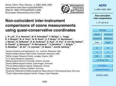Non-coincident Inter-instrument Comparis... by Lait, L. R.