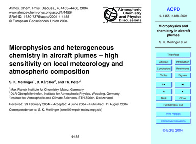 Microphysics and Heterogeneous Chemistry... by Meilinger, S. K.