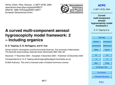 A Curved Multi-component Aerosol Hygrosc... by Topping, D. O.