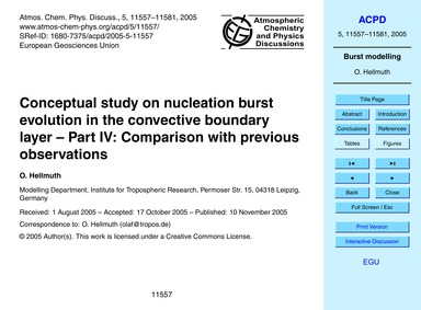 Conceptual Study on Nucleation Burst Evo... by Hellmuth, O.