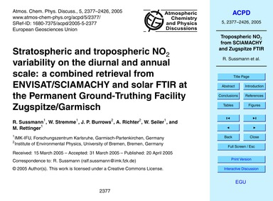 Stratospheric and Tropospheric No2 Varia... by Sussmann, R.