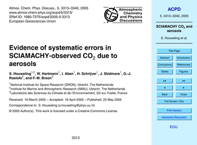 Evidence of Systematic Errors in Sciamac... by Houweling, S.