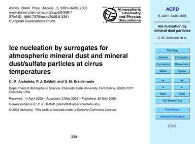 Ice Nucleation by Surrogates for Atmosph... by Archuleta, C. M.