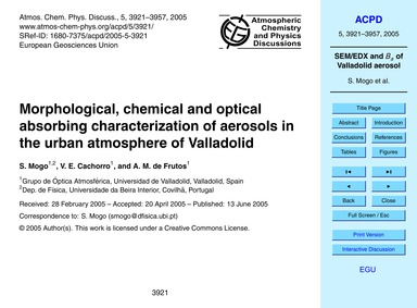 Morphological, Chemical and Optical Abso... by Mogo, S.