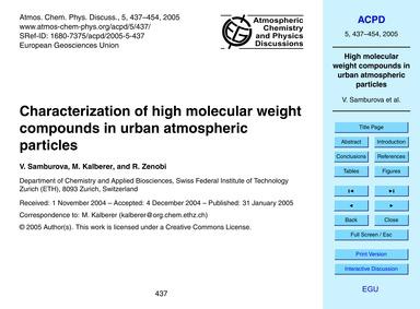 Characterization of High Molecular Weigh... by Samburova, V.