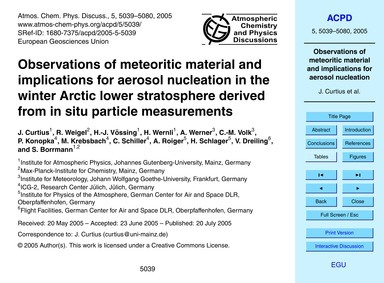 Observations of Meteoritic Material and ... by Curtius, J.