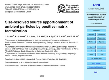 Size-resolved Source Apportionment of Am... by Han, J. S.