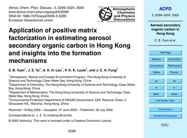 Application of Positive Matrix Factoriza... by Yuan, Z. B.