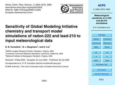 Sensitivity of Global Modeling Initiativ... by Considine, D. B.