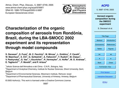 Characterization of the Organic Composit... by Decesari, S.