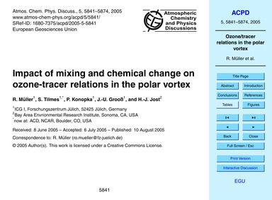 Impact of Mixing and Chemical Change on ... by Müller, R.