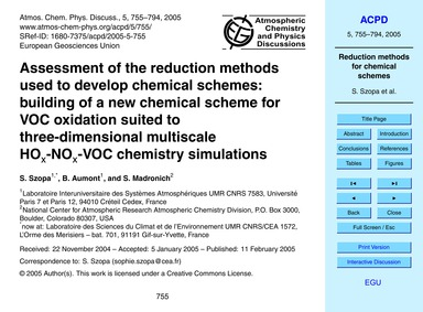 Assessment of the Reduction Methods Used... by Szopa, S.