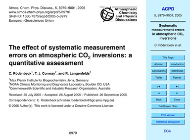 The Effect of Systematic Measurement Err... by Rödenbeck, C.