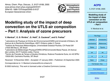 Modelling Study of the Impact of Deep Co... by Marécal, V.