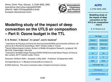 Modelling Study of the Impact of Deep Co... by Rivière, E. D.