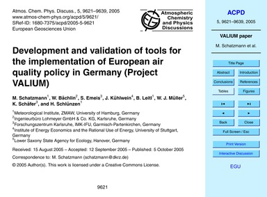 Development and Validation of Tools for ... by Schatzmann, M.