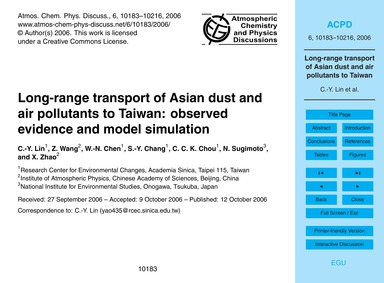 Long-range Transport of Asian Dust and A... by Lin, C.-y.