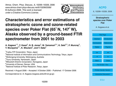 Characteristics and Error Estimations of... by Kagawa, A.