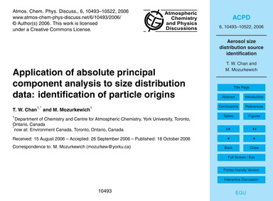 Application of Absolute Principal Compon... by Chan, T. W.