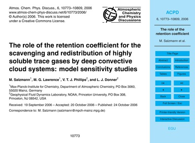 The Role of the Retention Coefficient fo... by Salzmann, M.