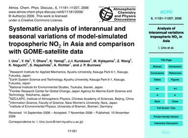 Systematic Analysis of Interannual and S... by Uno, I.