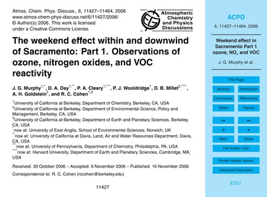 The Weekend Effect Within and Downwind o... by Murphy, J. G.