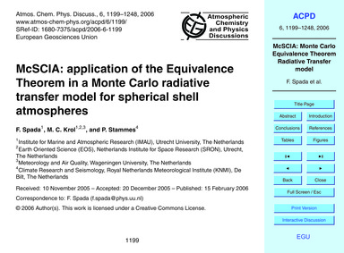 McSCIA: Application of the Equivalence T... by Spada, F.