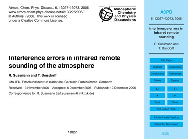 Interference Errors in Infrared Remote S... by Sussmann, R.