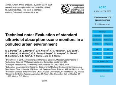 Technical Note: Evaluation of Standard U... by Dunlea, E. J.