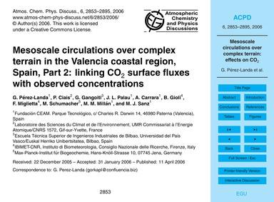 Mesoscale Circulations Over Complex Terr... by Pérez-landa, G.