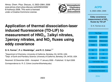 Application of Thermal Dissociation-lase... by Farmer, D. K.