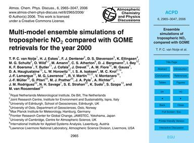 Multi-model Ensemble Simulations of Trop... by Van Noije, T. P. C.