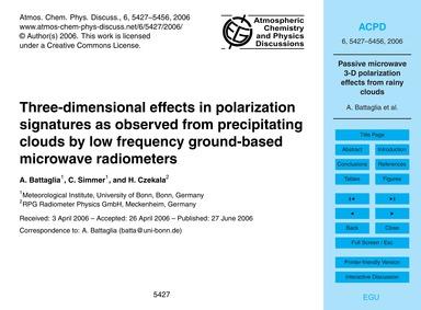 Three-dimensional Effects in Polarizatio... by Battaglia, A.