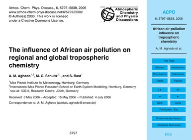The Influence of African Air Pollution o... by Aghedo, A. M.