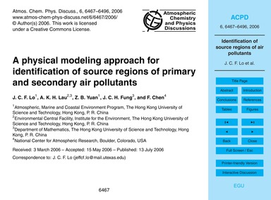 A Physical Modeling Approach for Identif... by Lo, J. C. F.