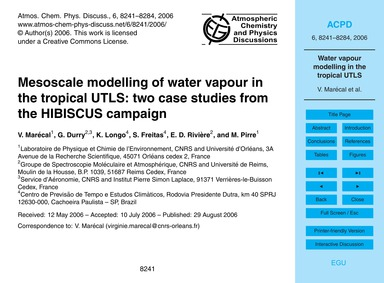 Mesoscale Modelling of Water Vapour in t... by Marécal, V.