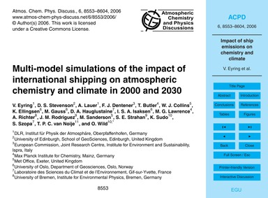 Multi-model Simulations of the Impact of... by Eyring, V.