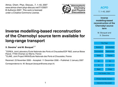 Inverse Modelling-based Reconstruction o... by Davoine, X.