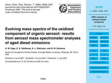 Evolving Mass Spectra of the Oxidized Co... by Sage, A. M.