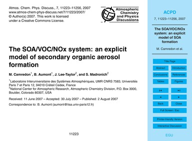 The Soa/Voc/Nox System: an Explicit Mode... by Camredon, M.