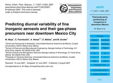 Predicting Diurnal Variability of Fine I... by Moya, M.