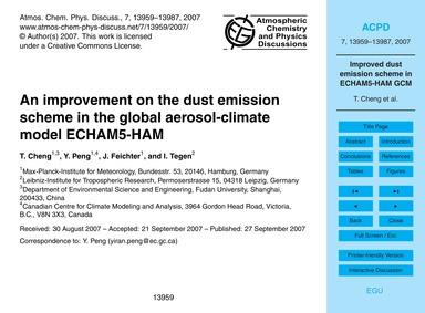 An Improvement on the Dust Emission Sche... by Cheng, T.