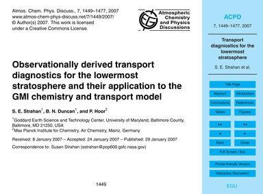Observationally Derived Transport Diagno... by Strahan, S. E.