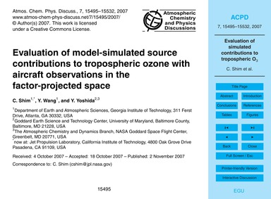 Evaluation of Model-simulated Source Con... by Shim, C.